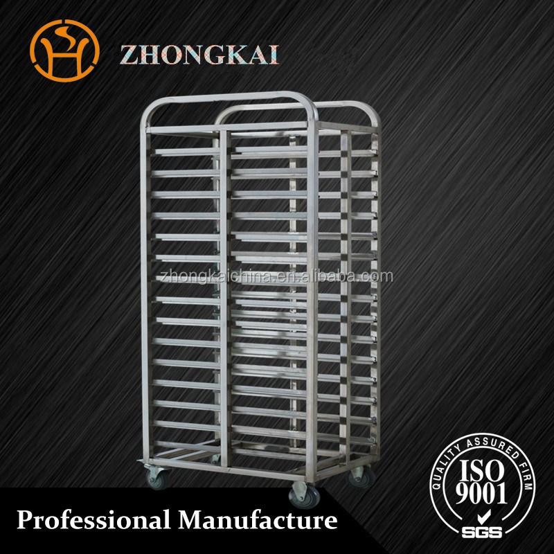 Kitchen Food Stainless Steel Baking Pan Tray Bread Trolley
