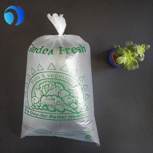 Non-toxic transparent vegetable plastic bags fish bag inner pack bags on roll
