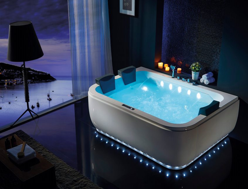 hs-b1831t with beautiful light rectangular huge bathtub sale in