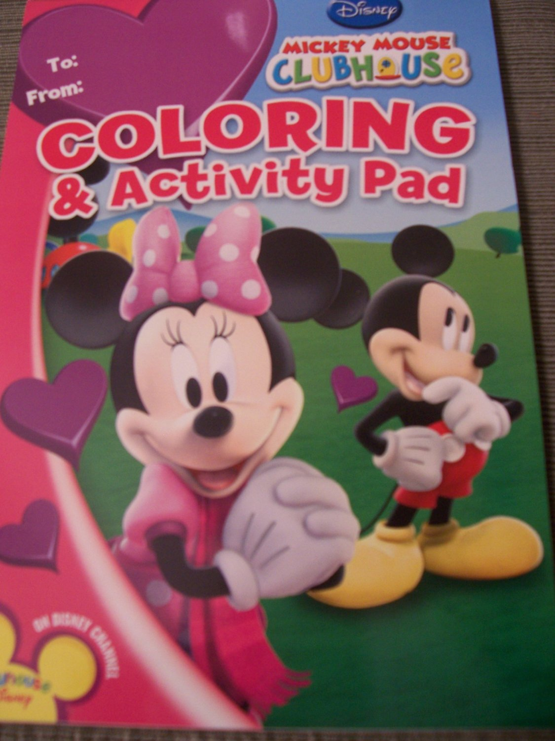 Disney Mickey Mouse Clubhouse Coloring & Activity Pad ~ Love with Mickey & Minnie