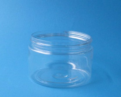 5.3 Oz ( 150 ml ) Round Clear Plastic PET Jar w/ Aluminum lid for food packing