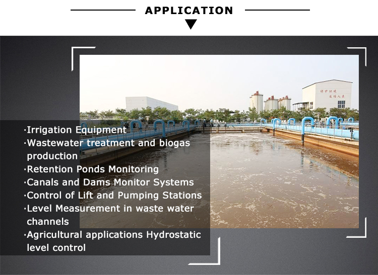 Holykell factory HPT605 4-20mA Effluent Measurement Sewage water Level Sensor