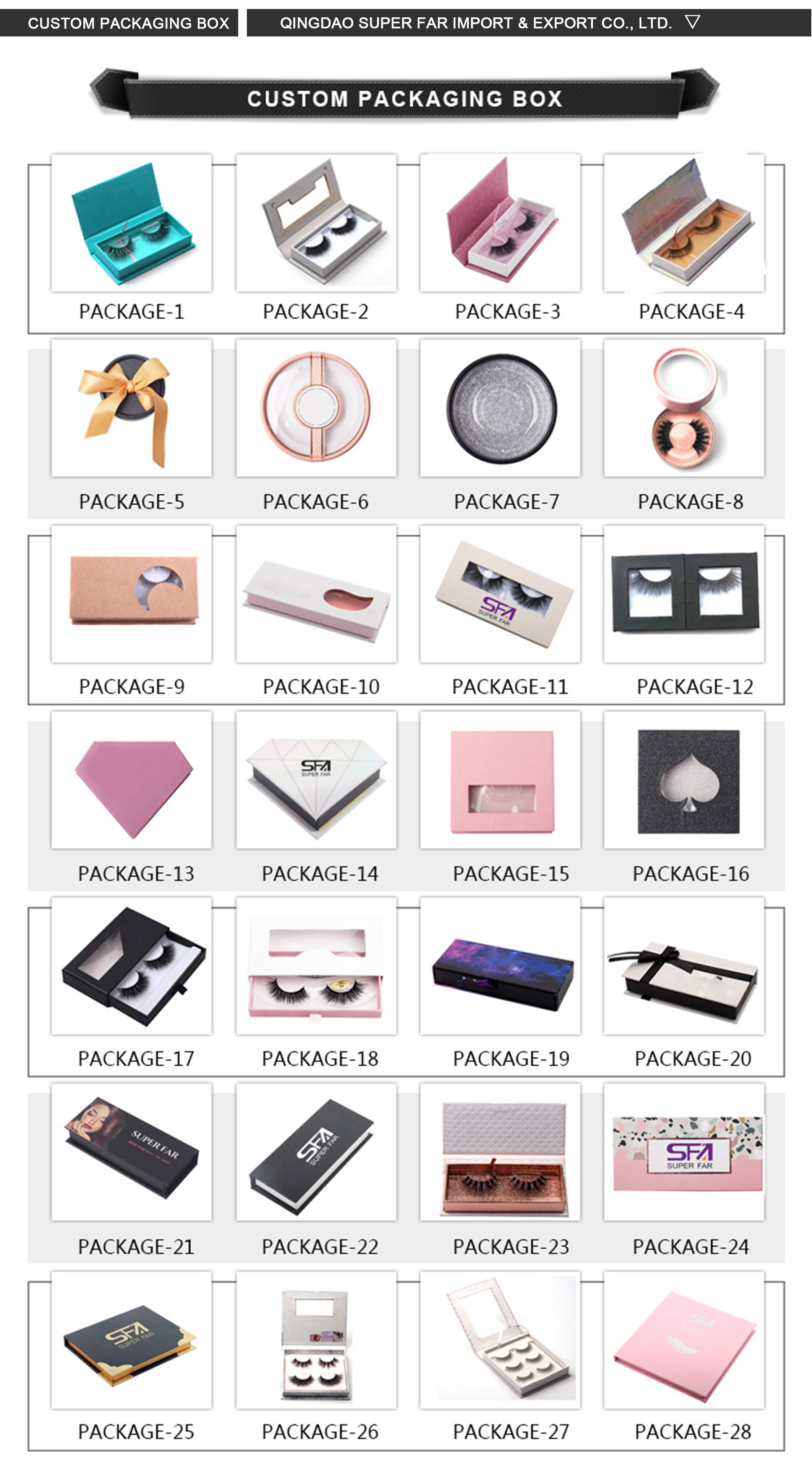 Private label Peach Pink Square Custom Mink Eyelash Box Packaging With Clear PVC Window