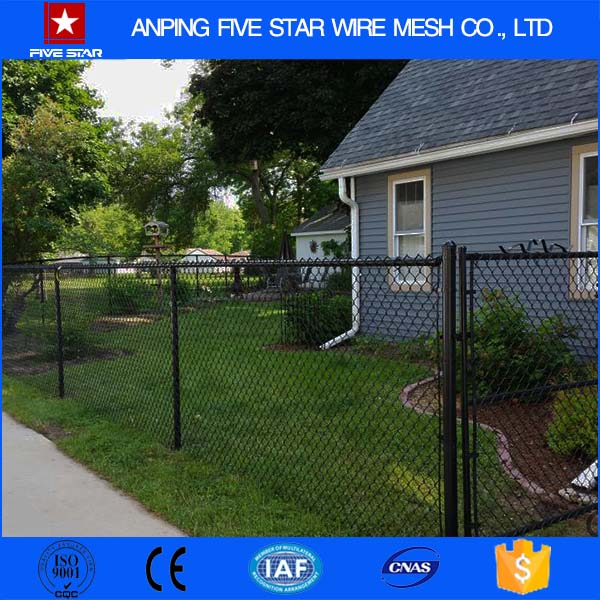 50*50 mm opening Diamond Galvanized / PVC Coated Chain Link Fence