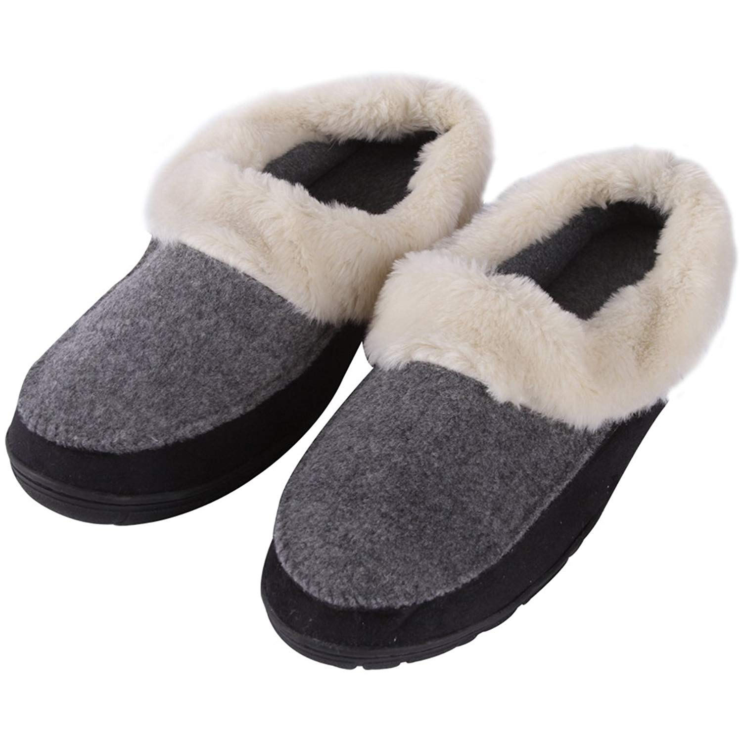 0e751e5f2 Get Quotations · Forfoot Slippers Women Men Warm Faux Fur Suede House Boot Slippers  Indoor Outdoor