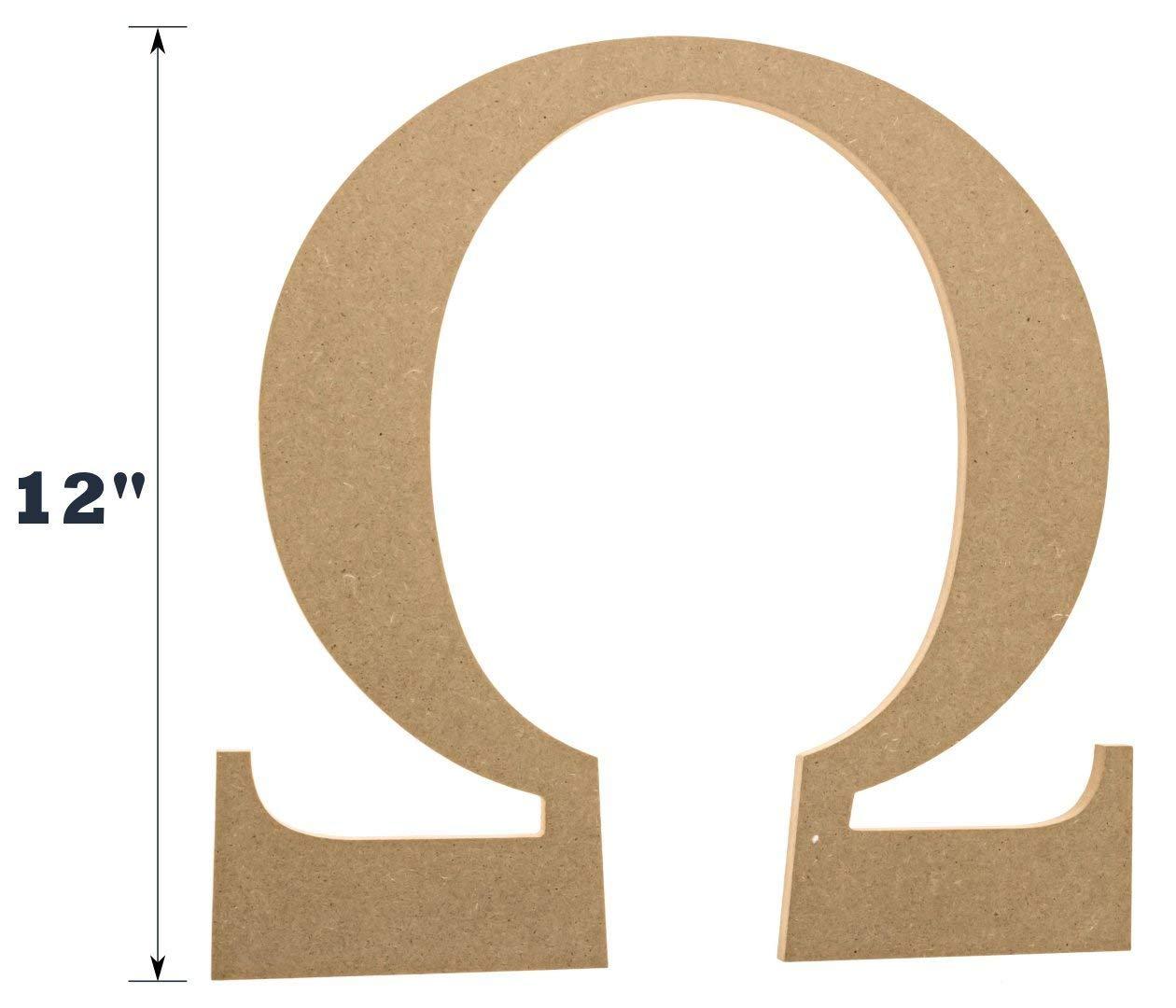 get quotations 12 wooden greek letter omega fraternitysorority premium mdf wood letters 12