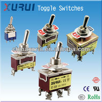 on-off-on 9 pin toggle switch / toggle product electronic products / TPDT double throw middle stop screw toggle switch