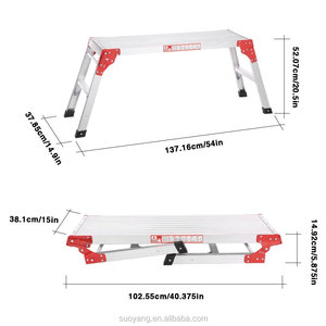 Hopstar Aluminium Folding Work Platform Bench Step Up Hop Up HEAVY DUTY