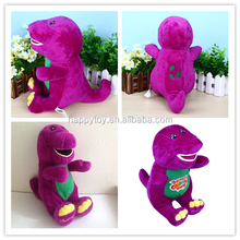 HI CE-EN71 customized voice recording plush toys plush stuffed singing barney dinosaur toys