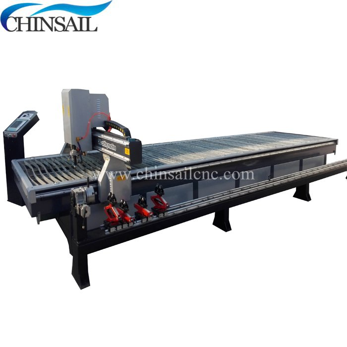 Top quality cnc plasma cutting machine water bed with hua yuan lgk-120 plasma source