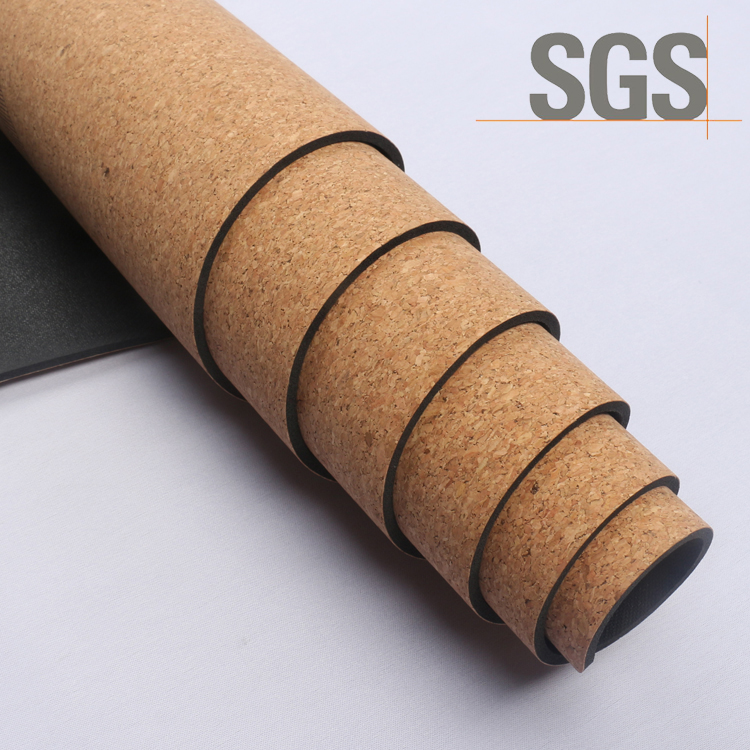 China Factory Whole Organic TPE Cork Yoga Mat Cork