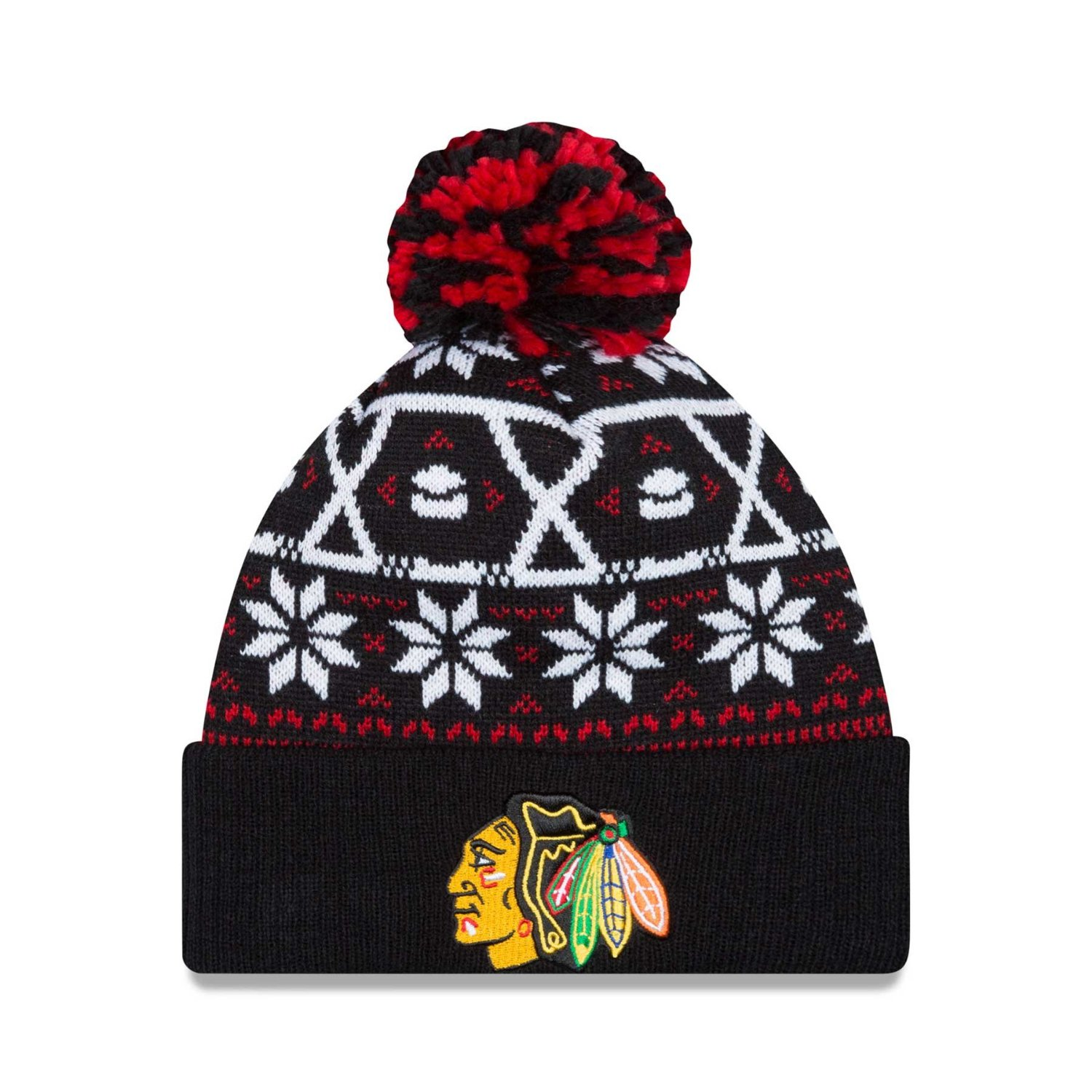 90d7de209c6 Get Quotations · Chicago Blackhawks NHL Sweater Chill Knit Hat
