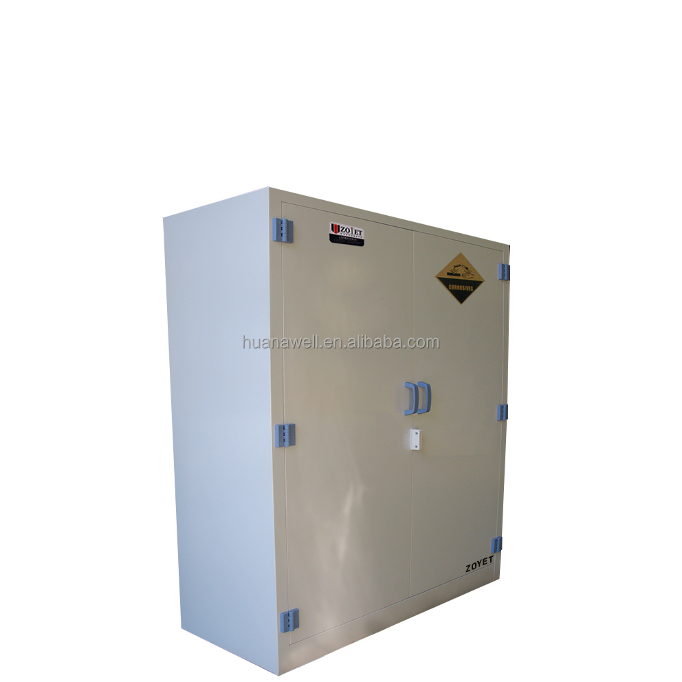 High quality 30 gallon PP cabinets for Hydrochloric Acid, Sulfuric Acid, Nitric Acid storage cabinets