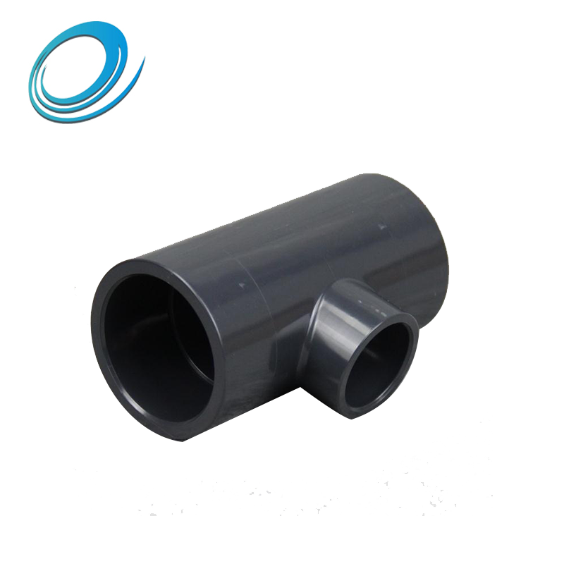 Superior quality water supply pipe fittings pvc reducing tee with wholesale price