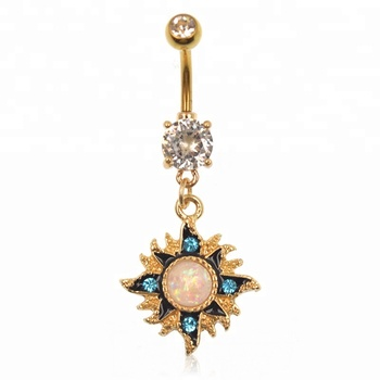 Sun Moon And Star Cz Navel Piercing Ring In Body Jewelry Buy Navel Piercing Ring Navel Piercing Jewelry Navel Ring Jewelry Product On Alibaba Com