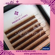 0.05/0.07/0.10/0.15mm I Curl Straight Mink Brown Silk Mink Eyebrow Extension
