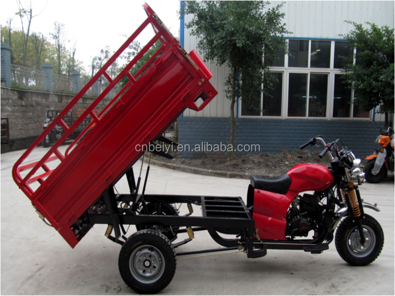 2016 China chongqing best selling150cc/175cc/200cc/250cc light load cargo three wheel tricycle trike cart dumper for sale