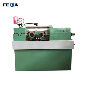 FEDA stud bolt rolling machine price manual thread rolling machine supplier rack bolt making machine