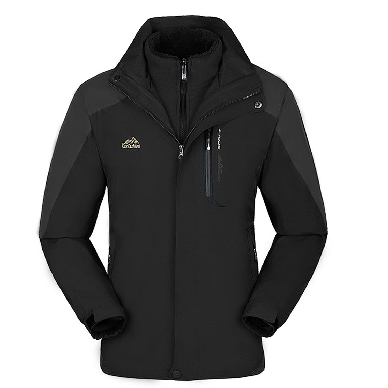 M/&S/&W Mens Outdoor Slim Fit Sports Hooded Windproof Jacket Waterproof Rain Coat