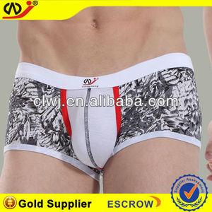 WJ brand boxer short satin boxer shorts printed pictures of men in thong mens boxers
