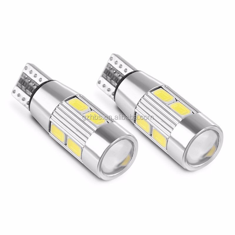 Sistem Pencahayaan Auto LED T10 CANBUS 194 W5W 10SMD 5730 LED T10 Bohlam Lampu Lampu LED Parkir Bohlam Lampu Mobil LED untuk Mobil