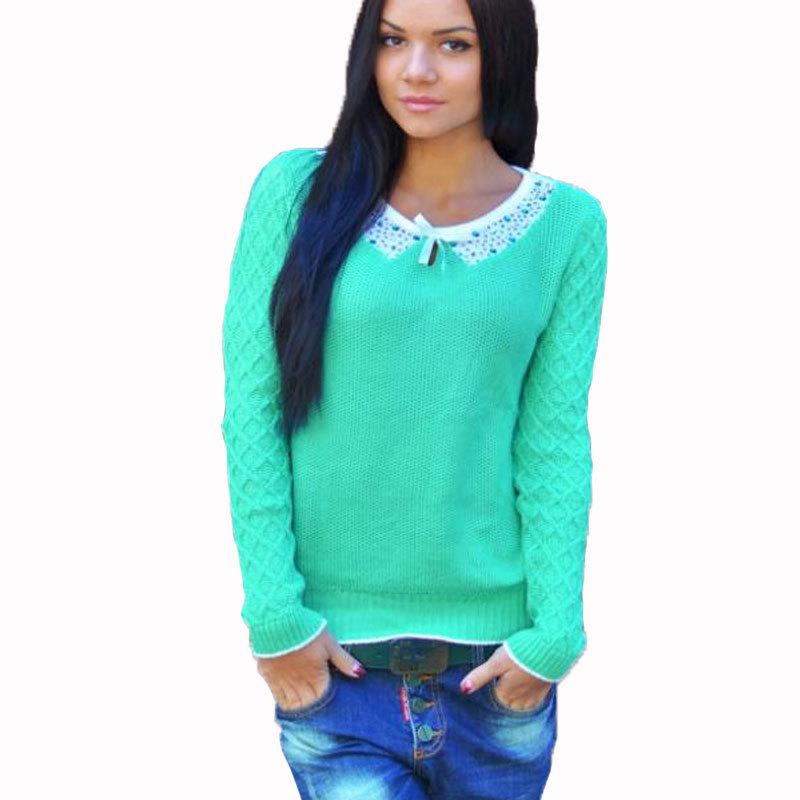 bc95fd5f118 Buy Plus Size Women Winter Pullover Sweater 2015 Crochet Knitted Sweater  Long Sleeve Casual Swaeter Autumn Jumper Knitwear Knit Wear in Cheap Price  on ...
