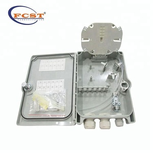 FCST02214 Wall and pole mountable Outdoor ABS plastic 16 24 core Terminal Box With Pigtail/PLC Splitter