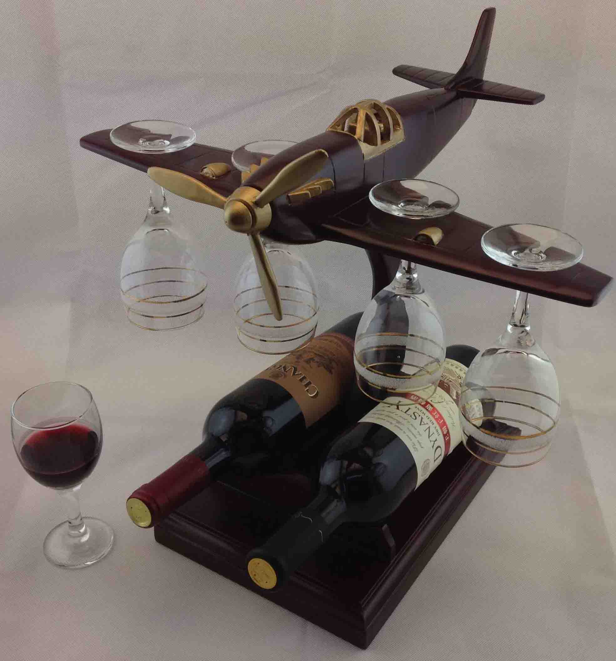 Wooden Wine Bottle Holder Old Style Airplane Buy Wine