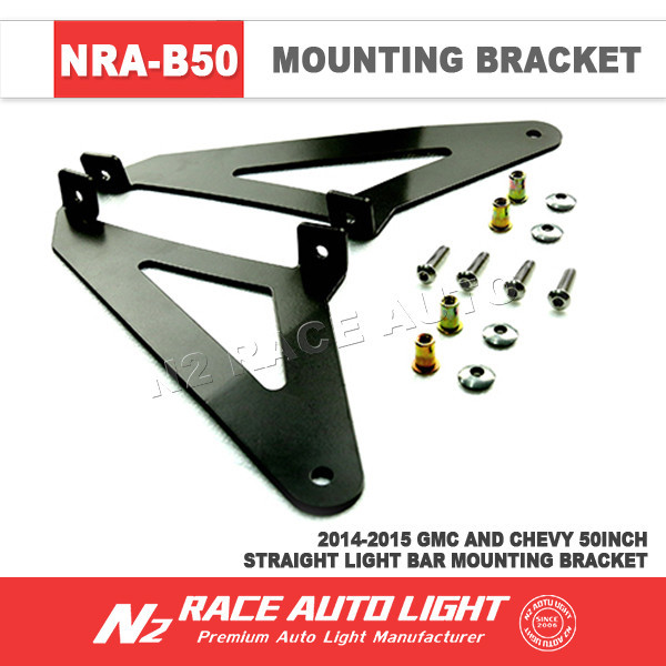 Wholesale led offroad light bar roof mount bracket 14-15 50'' straight light bar bracket GM Sliverado /Sierra