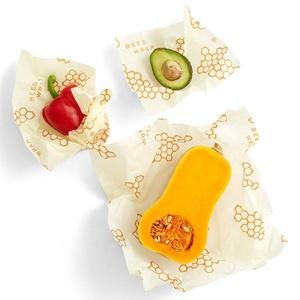 Food Grade Fda Custom Natural Organic Fabric Reusable Storage Beeswax Food Wrap