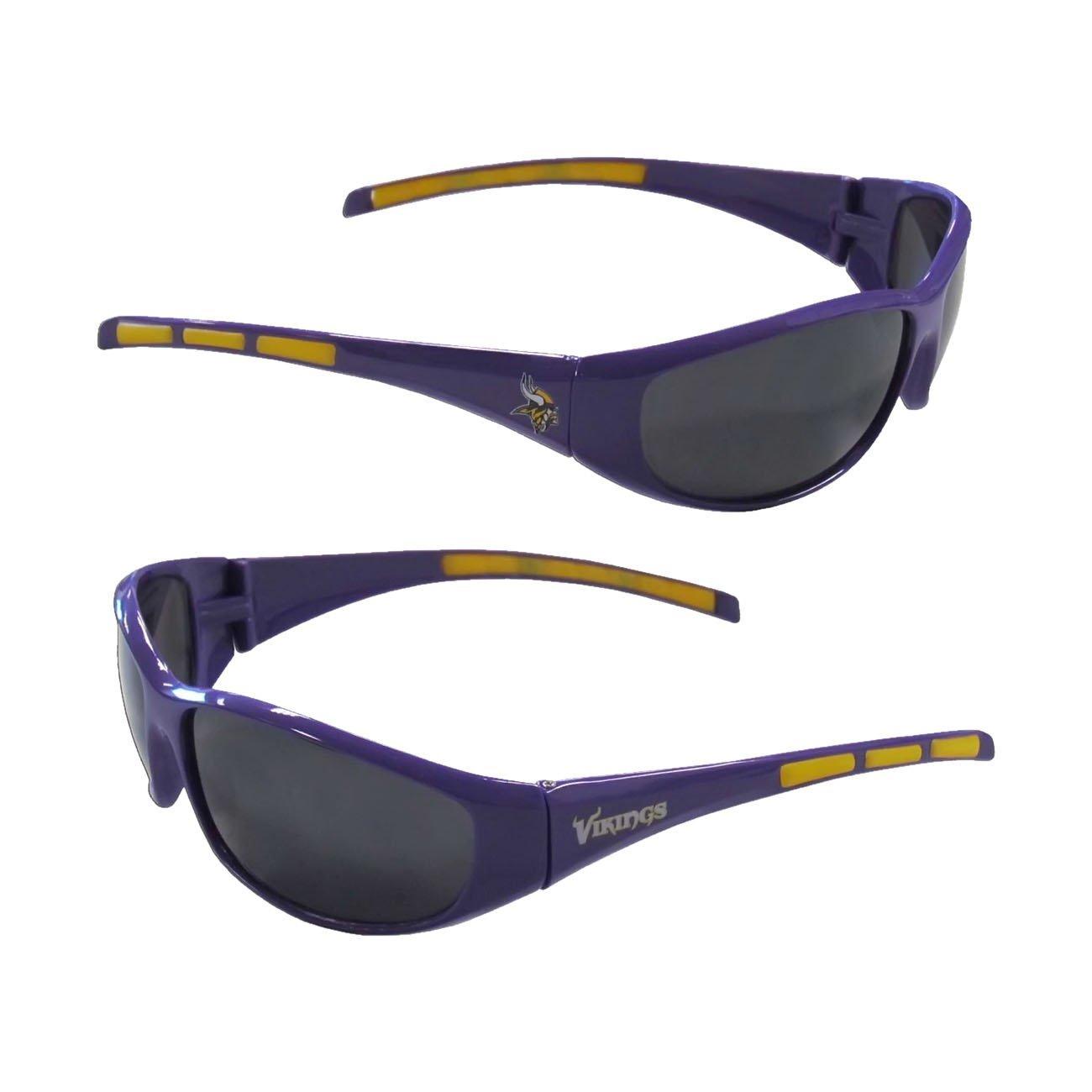 Siskiyou Minnesota Vikings NFL Team Logo Wrap 3 Dot Sunglasses