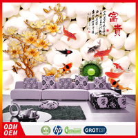 chinese character wallpaper chinese writing word wallpaper designer home decor wallpaper goldfish