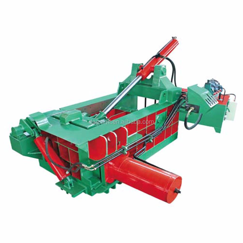 Metal scrap bailing press machine