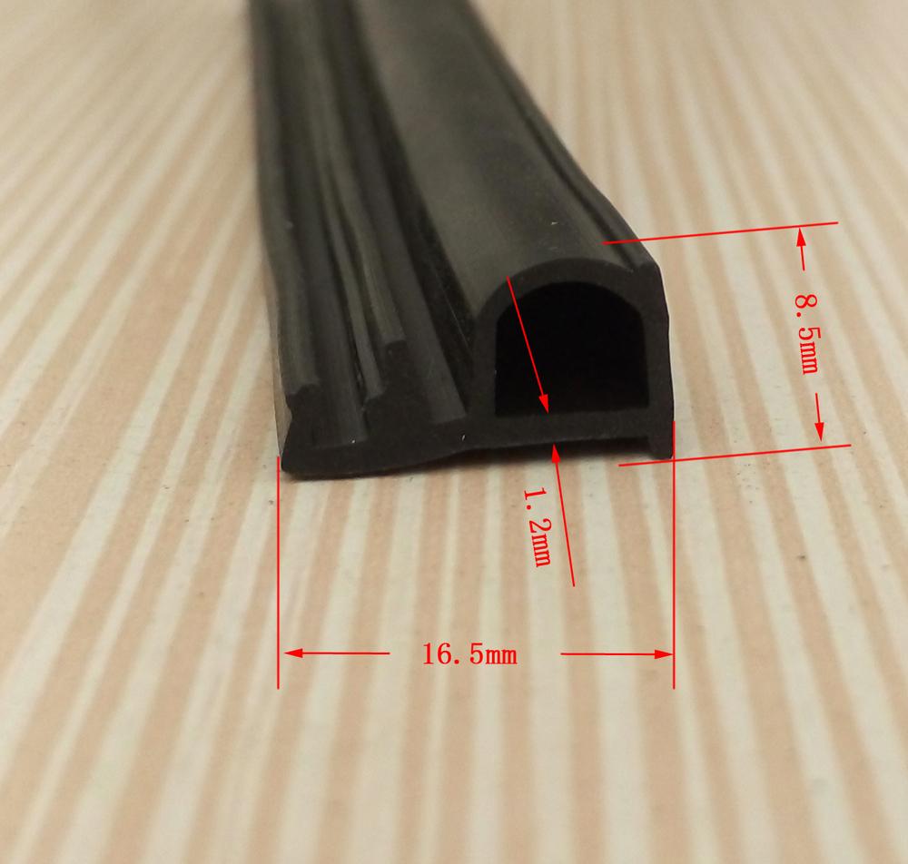 Dense Epdm Door Gasket Roller Shutter Rubber Seal With
