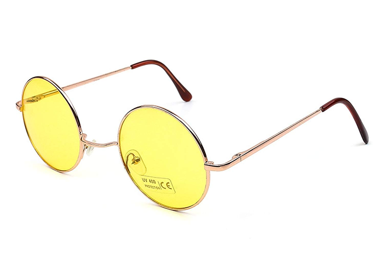 51763218bae Get Quotations · Caixia Women s SJT-TZ Colored Tinted Lens Retro Metal  Round Sunglasses