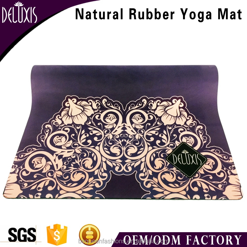 Non slip photographic print sticky and durable yoga mat