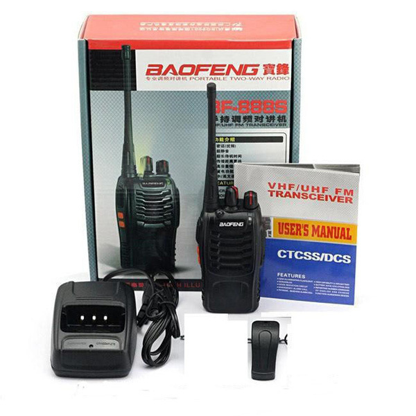 Parlantes de marche pas cher baofeng bf-888s radio bidirectionnelle UHF 400-470 MHz radio talkie-walkie