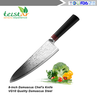 8-inch Damascus Chef's Knife -RING Series By Tuo Cutlery With Japanese 67 Layers VG-10 Damascus Stainless Steel