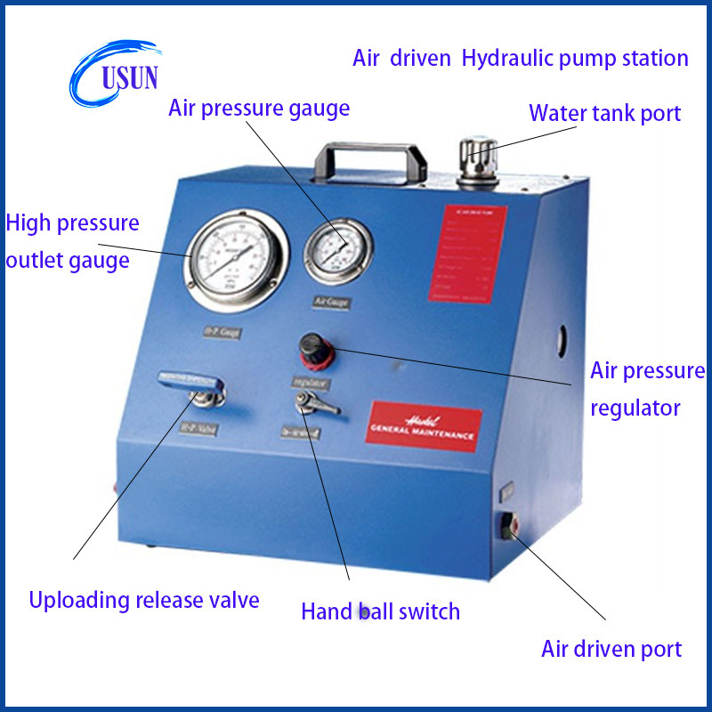 New Arrive Usun Model:ws-ah Small Portable Air Driven Hydro Booster Station  For Testing - Buy Air Driven Hydro Booster Station,Air Hydro Booster,Air