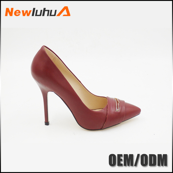 Cheap Wholesale Fashion High Heels Pump Red Fancy Ladies Shoes In ...
