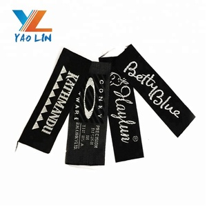 Wholesale custom damask clothing labels for famous brands