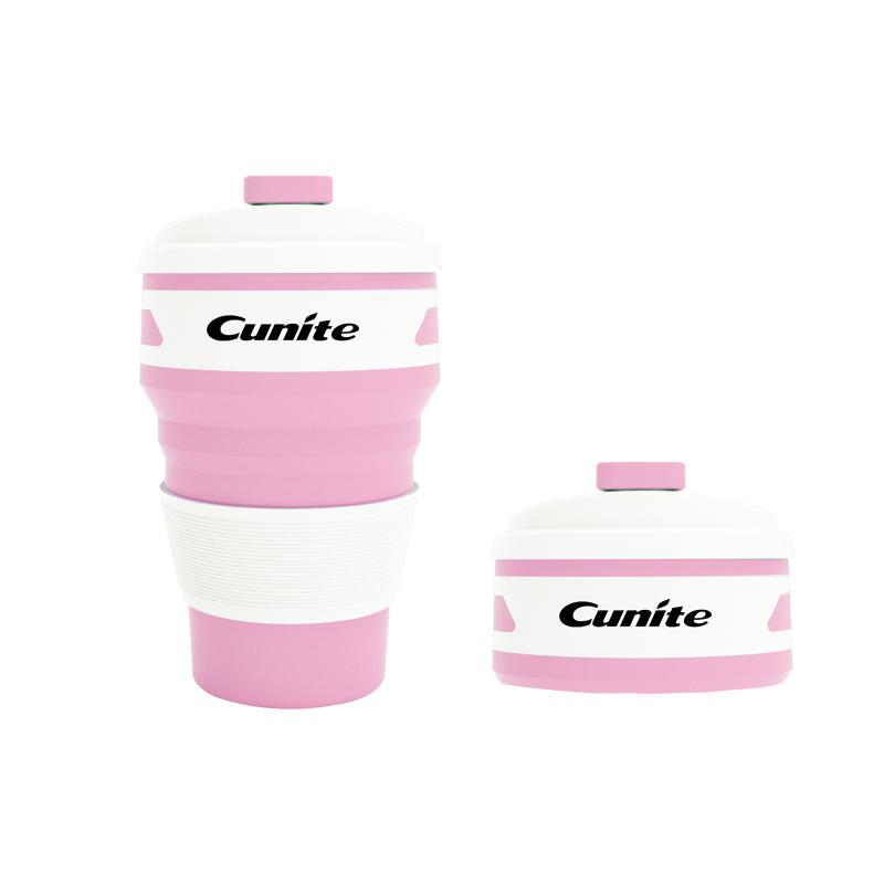 पोर्टेबल 350 ML यात्रा पीने कॉफी कप वापस लेने योग्य तह सिलिकॉन बंधनेवाला कॉफी कप