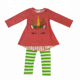 Christmas toddler girls boutique unicorn embroidery clothing sets kids outfit