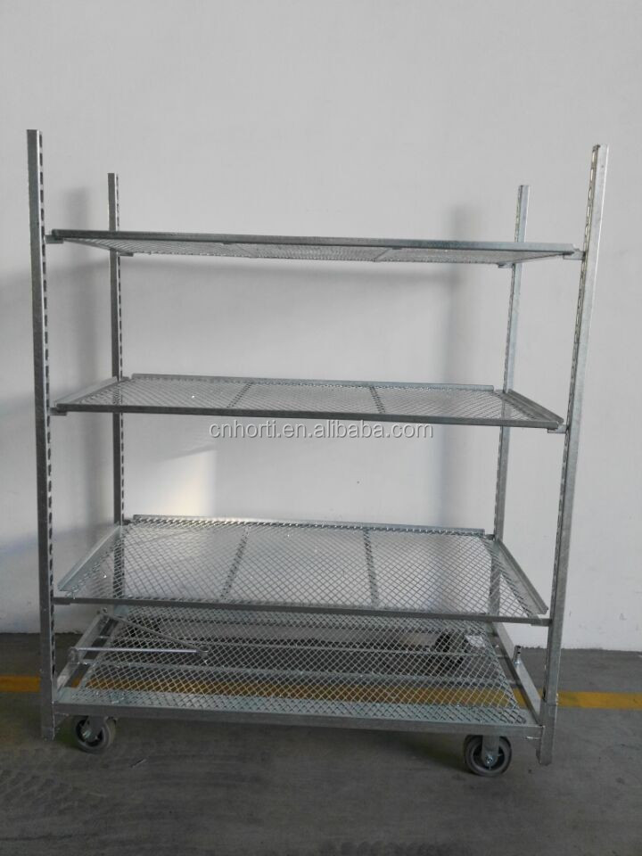 A93 22x59inch Us Plant Nursery Expanded Metal Cart Rack