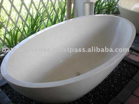 Terrazzo Stone Composite Bathtub Bt016