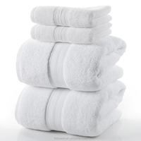 100% cotton Solid color bath towel set made in China towel factory