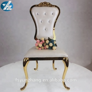 High Quality Archaize Hotel Chair Golden Stainless Steel Chair