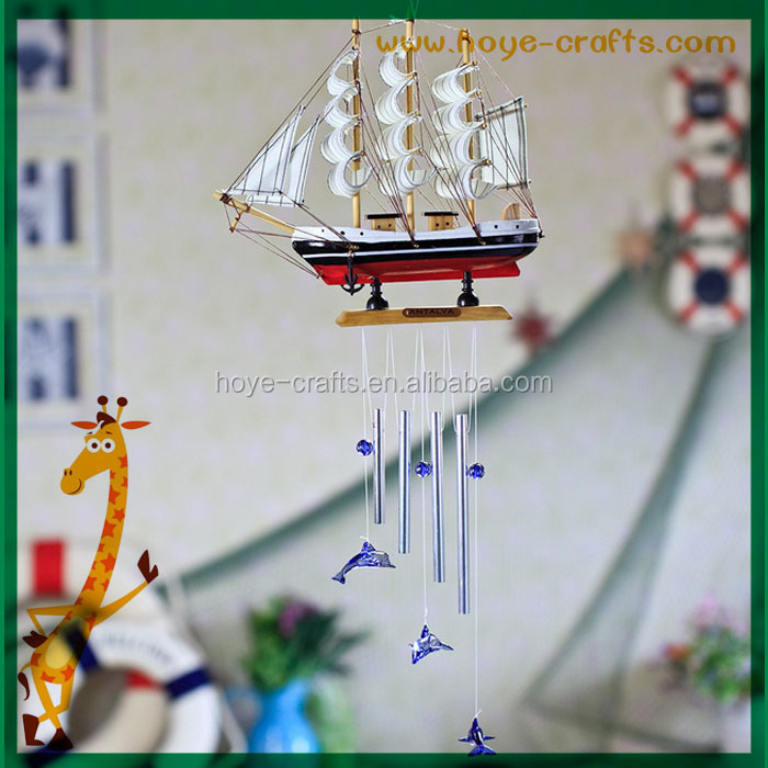 wholesale wooden small ship model wind chimes Designing Hand-Tuned wind chimes