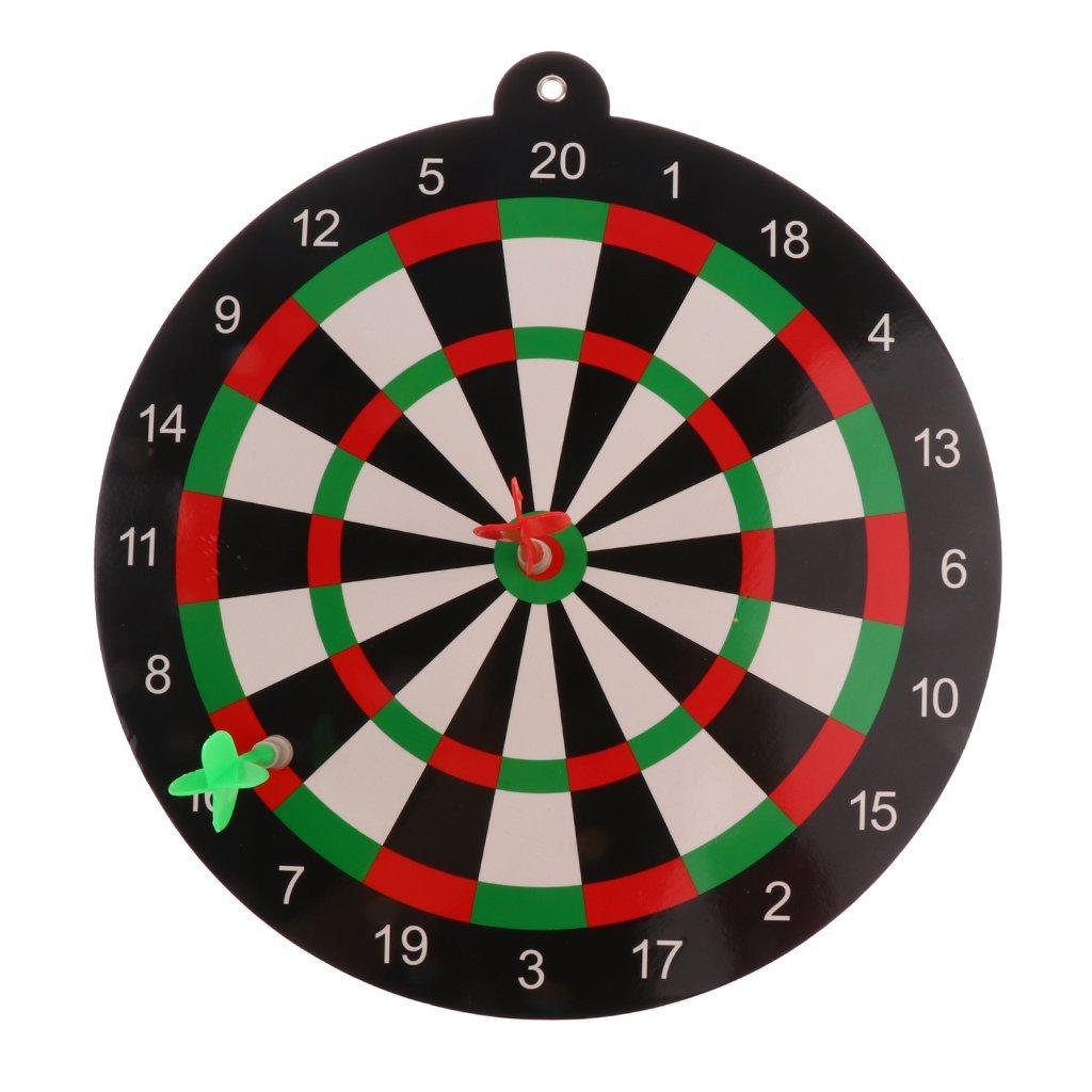MonkeyJack Safety Dart Board Set for Kids Adults - 9.45 inch Dartboard & 2 Magnet Darts