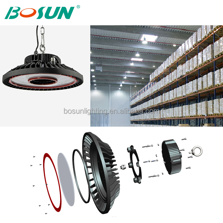 energy saving warm white warehouse lighting customized 200w led high bay lamp